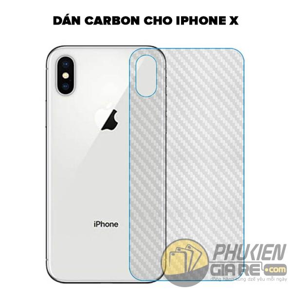 Dán Carbon iPhone X carbon fiber 100%