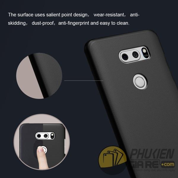Ốp lưng LG V30 hiệu Nillkin dạng sần
