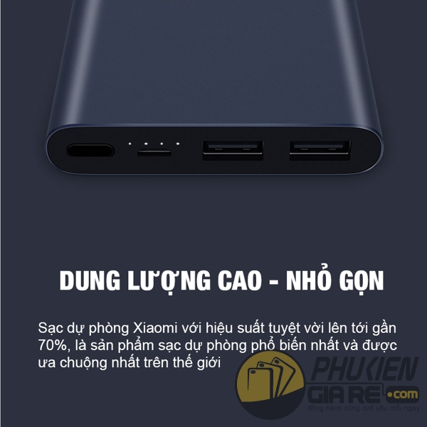 Pin dự phòng Xiaomi 10.000 mAh Gen 2 (new 2018)
