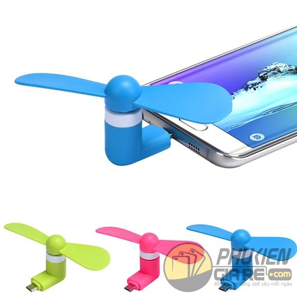 quạt mini cho điện thoại androi - quạt mini cho smartphone giá rẻ - quạt mini 2 cánh cắm điện thoại