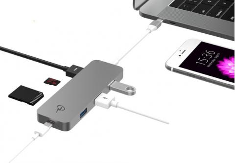 charjenpro premium hub usb c cho macbook - cáp chuyển usb type-c 7 in 1 charjenpro 1799