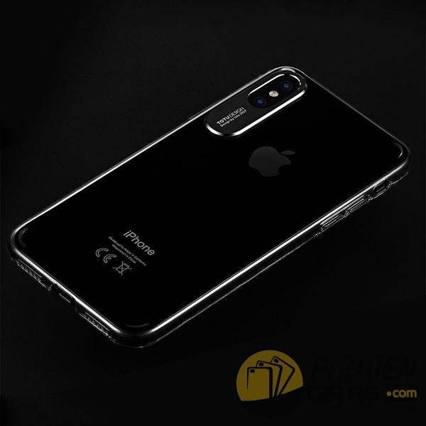 ốp lưng iphone x trong suốt - ốp lưng iphone x siêu mỏng - ốp lưng iphone x bảo vệ camera - ốp lưng iphone x totu design sparkling 2572
