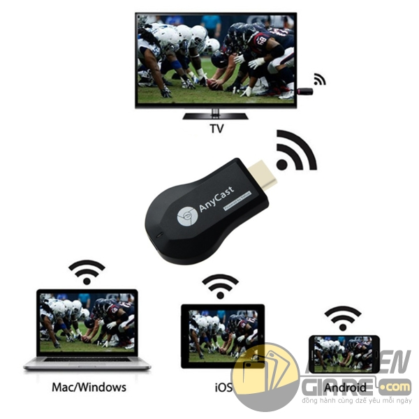 hdmi không dây anycast m9 plus - hdmi không dây cho iphone - hdmi không dây cho laptop - bộ kết nối hdmi không dây anycast m9 plus full hd 1080p 4159