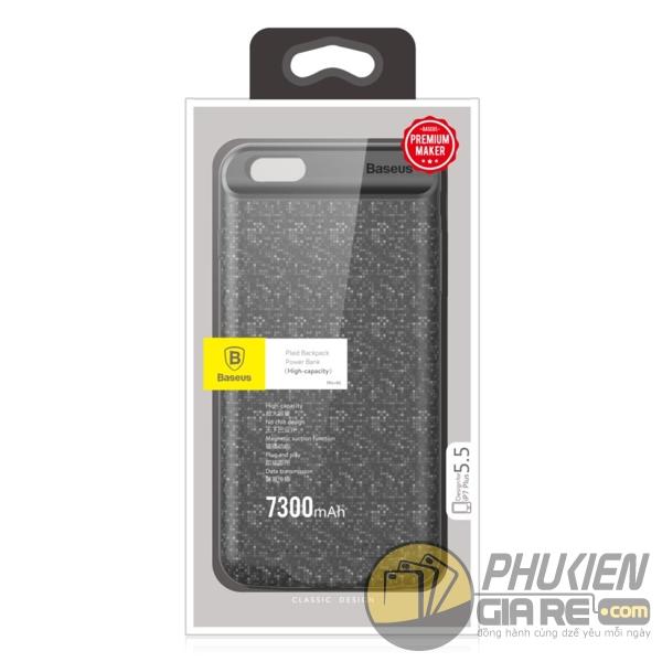 ốp lưng iphone 8 plus kiêm pin dự phòng 7300 mah - ốp lưng kiêm sạc dự phòng iphone 8 plus baseus plaid 3384