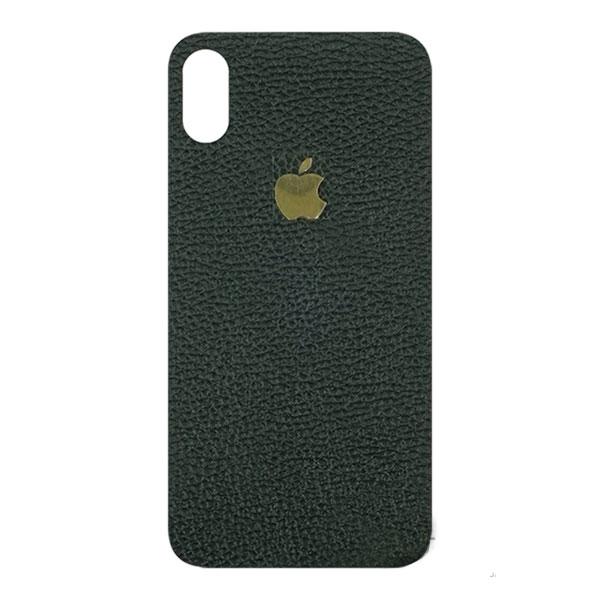 miếng dán da iphone x - miếng dán da iphone x logo nhôm - miếng dán da bò iphone x - dán da khắc tên iphone x 5214