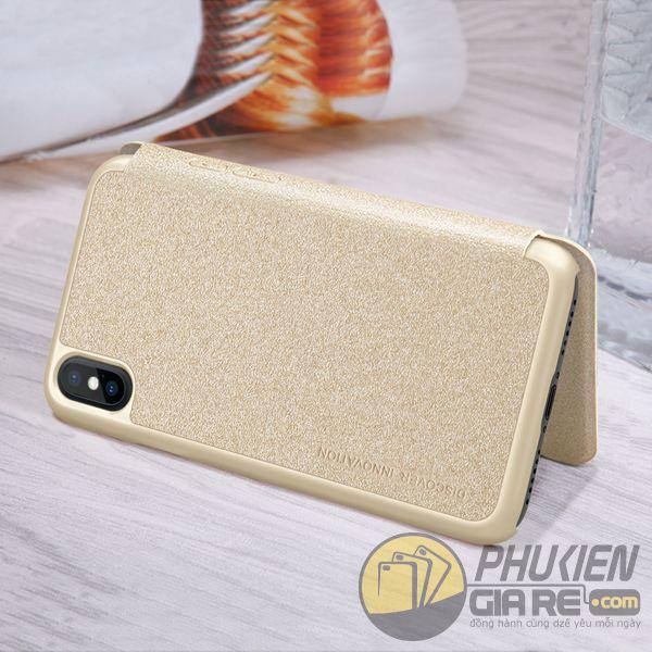 bao da iphone xs đẹp - bao da iphone xs siêu mỏng - ốp lưng iphone xs nillkin sparkle 7951