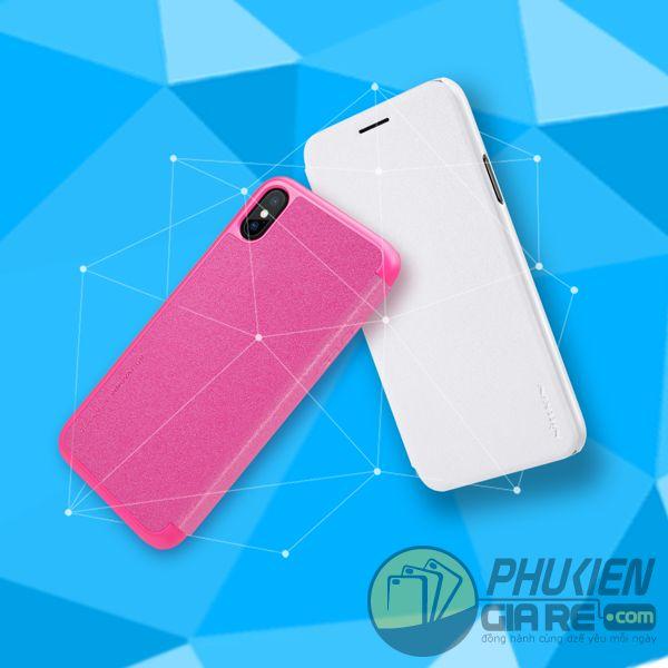 bao da iphone xs đẹp - bao da iphone xs siêu mỏng - ốp lưng iphone xs nillkin sparkle 7953