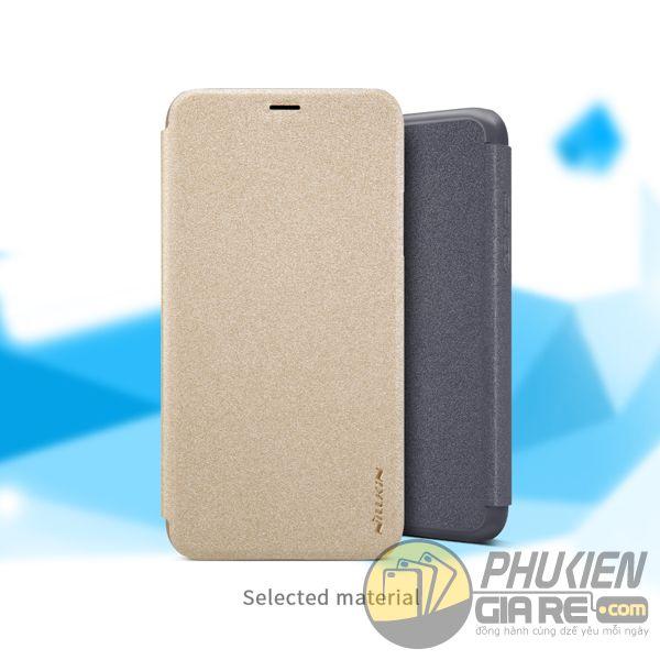 bao da iphone xs đẹp - bao da iphone xs siêu mỏng - ốp lưng iphone xs nillkin sparkle 7954