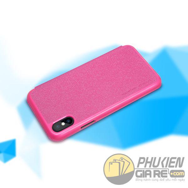 bao da iphone xs đẹp - bao da iphone xs siêu mỏng - ốp lưng iphone xs nillkin sparkle 7955