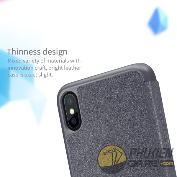 bao da iphone xs đẹp - bao da iphone xs siêu mỏng - ốp lưng iphone xs nillkin sparkle 7957