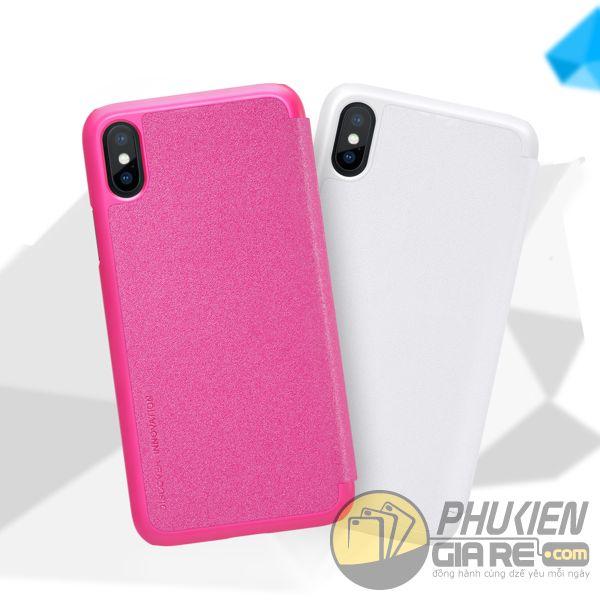 bao da iphone xs đẹp - bao da iphone xs siêu mỏng - ốp lưng iphone xs nillkin sparkle 7958