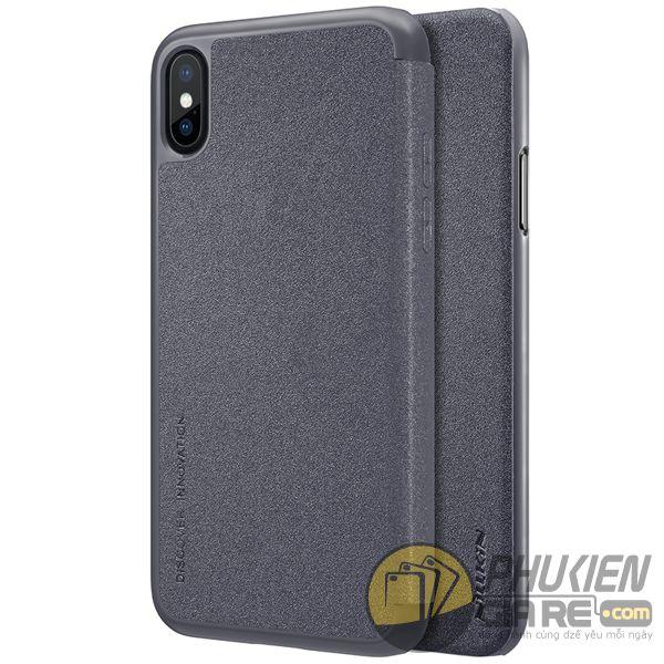 bao da iphone xs đẹp - bao da iphone xs siêu mỏng - ốp lưng iphone xs nillkin sparkle 7960