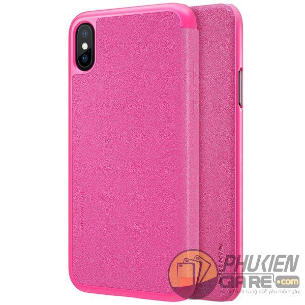 bao da iphone xs đẹp - bao da iphone xs siêu mỏng - ốp lưng iphone xs nillkin sparkle 7962