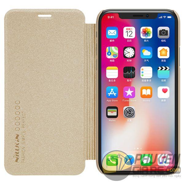 bao da iphone xs đẹp - bao da iphone xs siêu mỏng - ốp lưng iphone xs nillkin sparkle 7963