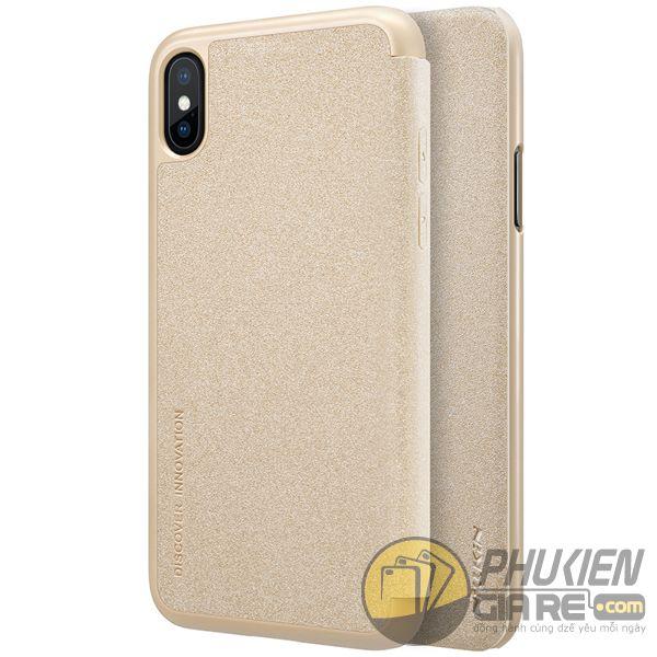 bao da iphone xs đẹp - bao da iphone xs siêu mỏng - ốp lưng iphone xs nillkin sparkle 7964