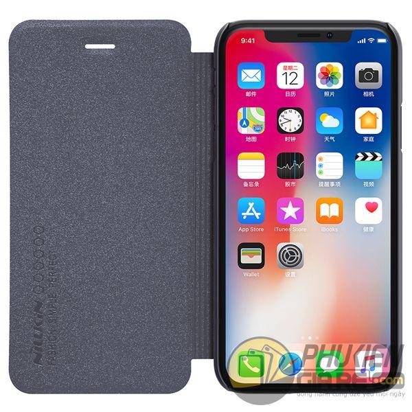 bao da iphone xs đẹp - bao da iphone xs siêu mỏng - ốp lưng iphone xs nillkin sparkle 7965