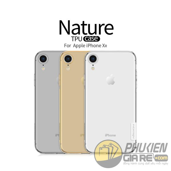 ốp lưng iphone xr trong suốt - ốp lưng iphone xr dẻo - ốp lưng iphone xr đẹp - ốp lưng iphone xr nillkin nature 8069