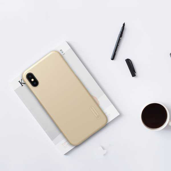 ốp lưng iphone xs max nhựa sần - ốp lưng iphone xs max đẹp - ốp lưng iphone xs max nillkin super frosted shield 8105