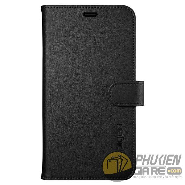 bao da iphone xs dạng ví - bao da iphone xs có quai gài - bao da iphone xs spigen wallet s (10142)