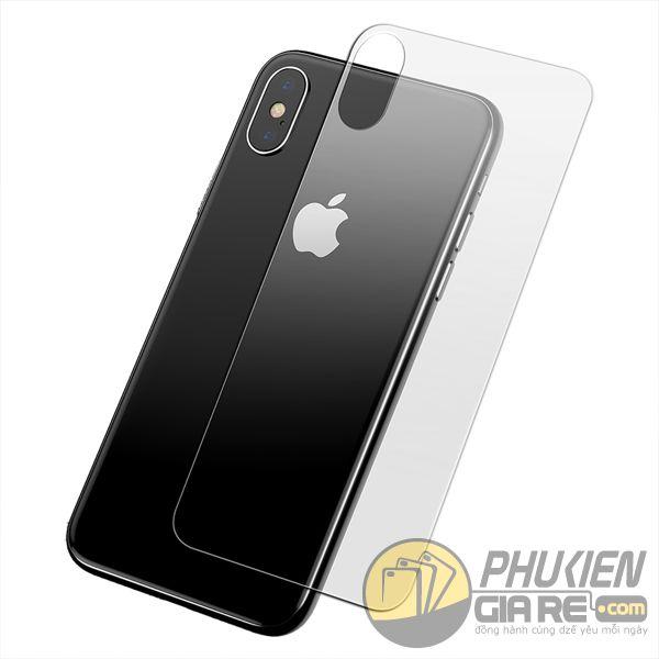 miếng dán cường lực iphone xs max mặt lưng -  dán cường lực mặt lưng iphone xs max - kính cường lực iphone xs max mặt lưng baseus 9710