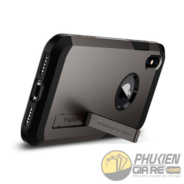 ốp lưng iphone xs chống sốc - ốp lưng iphone xs có đế chống ngang - ốp lưng iphone xs spigen tough armor (10120)