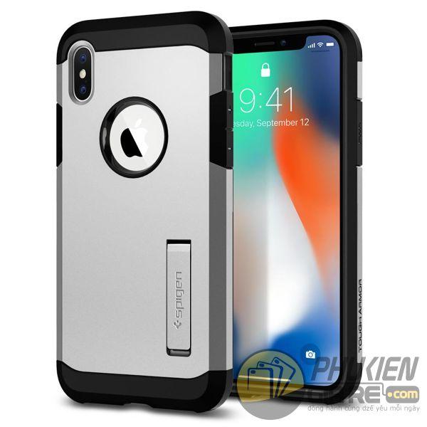ốp lưng iphone xs chống sốc - ốp lưng iphone xs có đế chống ngang - ốp lưng iphone xs spigen tough armor (10122)