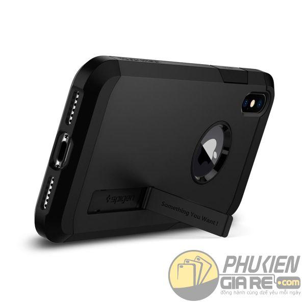 ốp lưng iphone xs chống sốc - ốp lưng iphone xs có đế chống ngang - ốp lưng iphone xs spigen tough armor (10126)