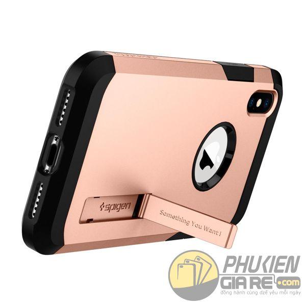 ốp lưng iphone xs chống sốc - ốp lưng iphone xs có đế chống ngang - ốp lưng iphone xs spigen tough armor (10128)