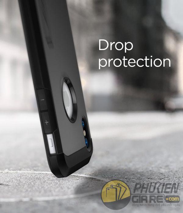 ốp lưng iphone xs chống sốc - ốp lưng iphone xs có đế chống ngang - ốp lưng iphone xs spigen tough armor (10130)
