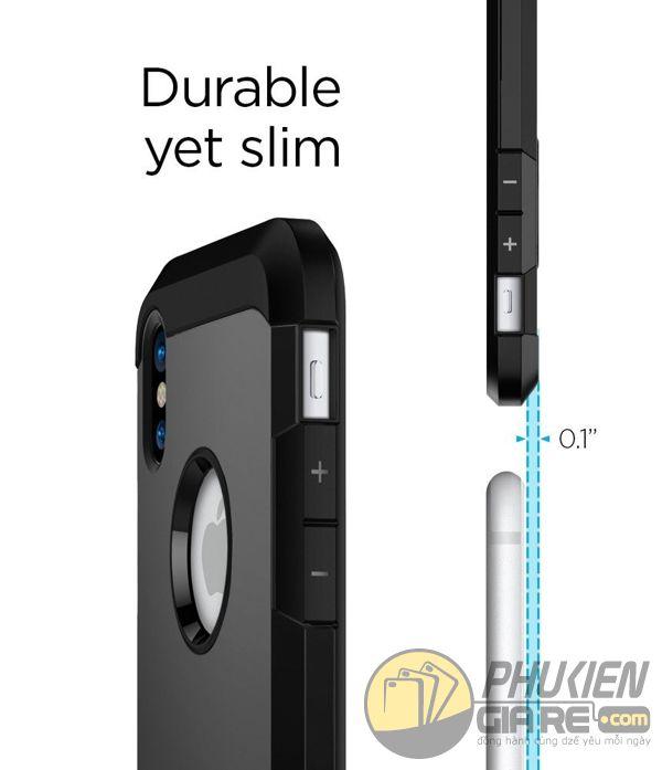 ốp lưng iphone xs chống sốc - ốp lưng iphone xs có đế chống ngang - ốp lưng iphone xs spigen tough armor (10132)