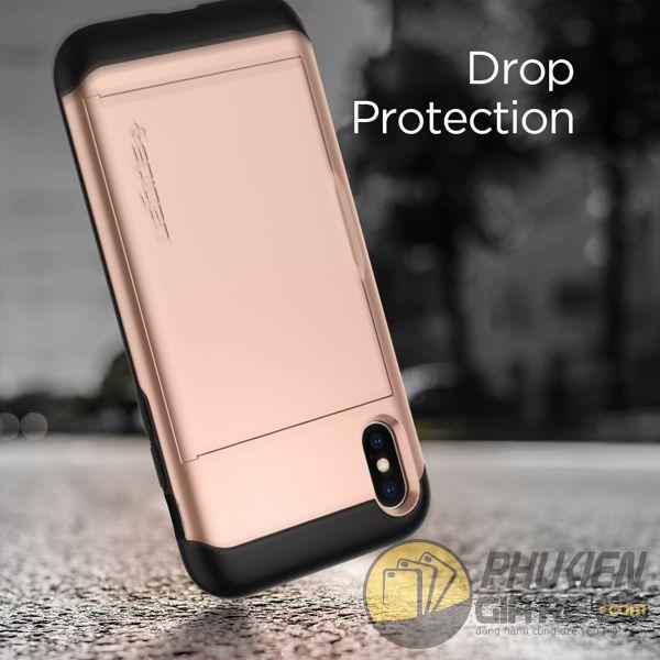 ốp lưng iphone xs đựng card - ốp lưng iphone xs chống sốc - ốp lưng iphone xs spigen slim armor cs (10149)