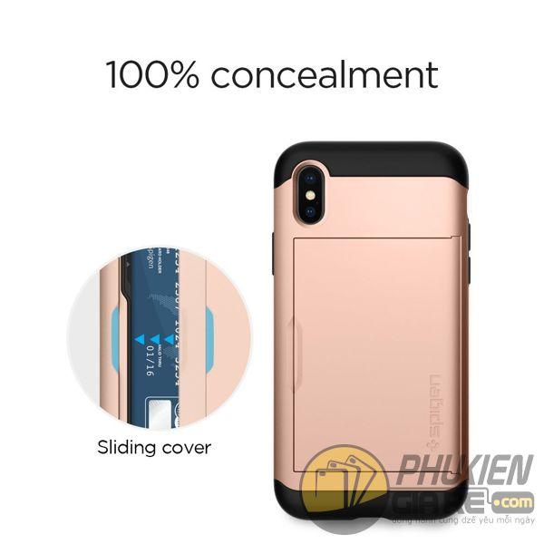 ốp lưng iphone xs đựng card - ốp lưng iphone xs chống sốc - ốp lưng iphone xs spigen slim armor cs (10150)