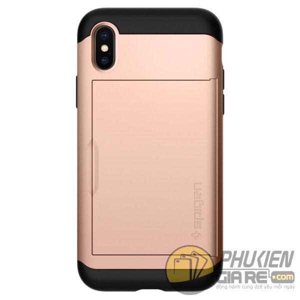 ốp lưng iphone xs đựng card - ốp lưng iphone xs chống sốc - ốp lưng iphone xs spigen slim armor cs (10159)