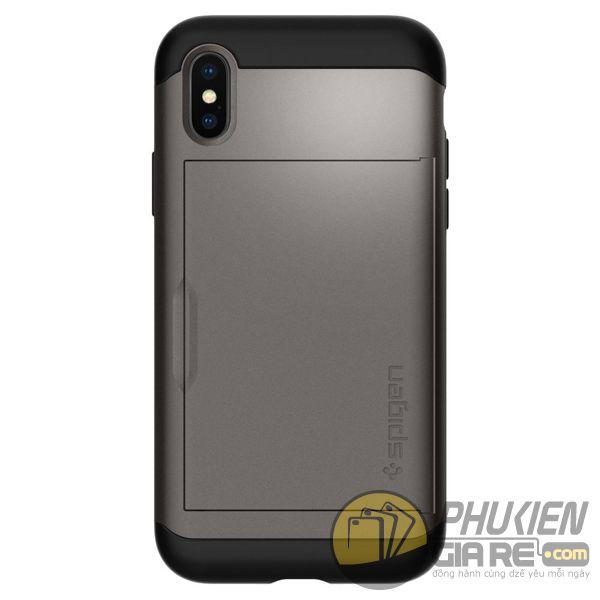 ốp lưng iphone xs đựng card - ốp lưng iphone xs chống sốc - ốp lưng iphone xs spigen slim armor cs (10160)