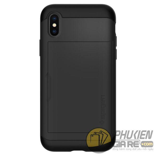 ốp lưng iphone xs đựng card - ốp lưng iphone xs chống sốc - ốp lưng iphone xs spigen slim armor cs (10161)