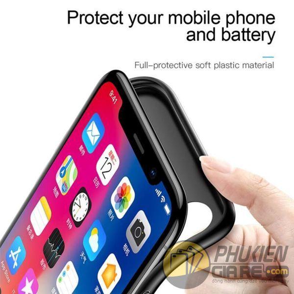 ốp lưng kiêm sạc dự phòng iphone x - ốp lưng iphone x kiêm sạc dự phòng - ốp lưng iphone x baseus plaid power bank (10172)