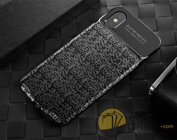 ốp lưng kiêm sạc dự phòng iphone x - ốp lưng iphone x kiêm sạc dự phòng - ốp lưng iphone x baseus plaid power bank (10176)