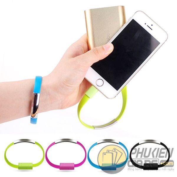 cáp sạc lightning - cáp sạc kiêm vòng đeo tay cho điện thoại iphone - cáp sạc lightning kiêm vòng đeo tay (11736)