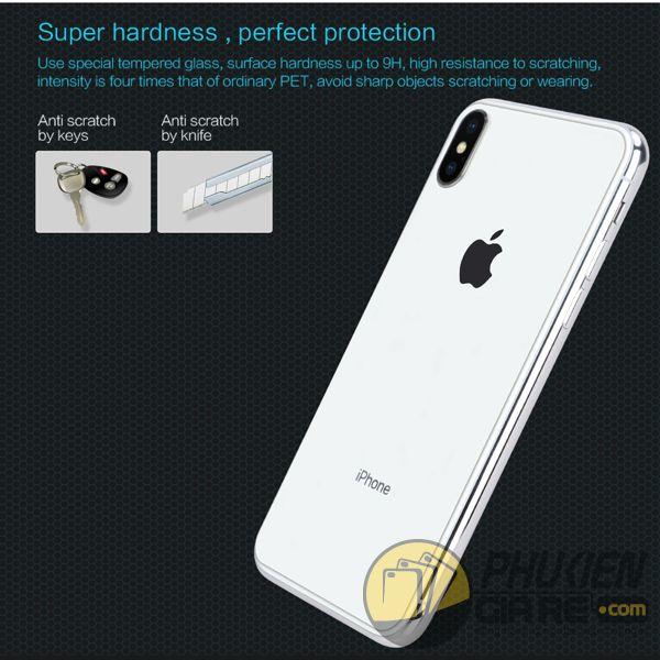 dán cường lực iphone xs max mặt lưng - kính cường lực iphone xs max mặt lưng 9h nillkin amazing h (11963)