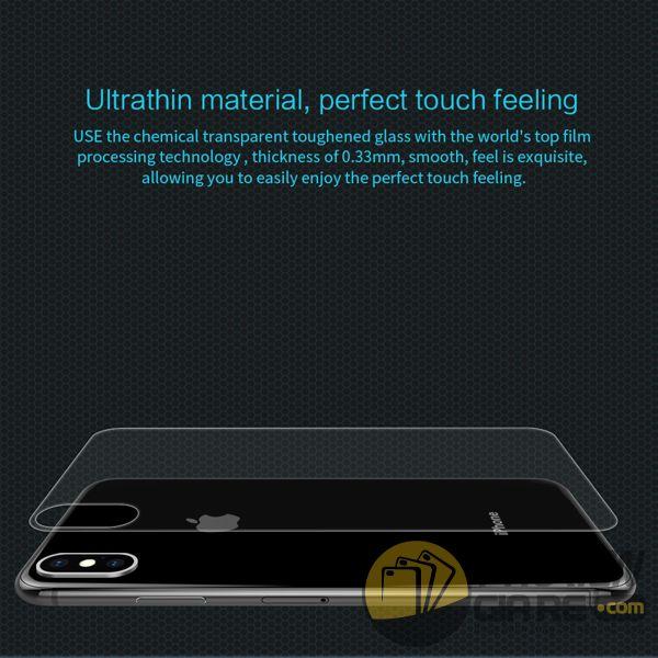 dán cường lực iphone xs max mặt lưng - kính cường lực iphone xs max mặt lưng 9h nillkin amazing h (11965)