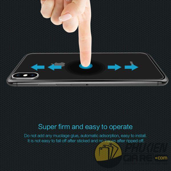 dán cường lực iphone xs max mặt lưng - kính cường lực iphone xs max mặt lưng 9h nillkin amazing h (11969)