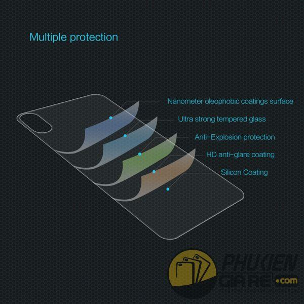 dán cường lực iphone xs max mặt lưng - kính cường lực iphone xs max mặt lưng 9h nillkin amazing h (11970)