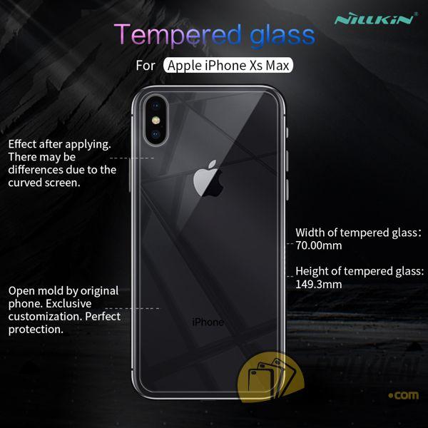 dán cường lực iphone xs max mặt lưng - kính cường lực iphone xs max mặt lưng 9h nillkin amazing h (11971)
