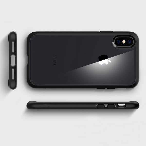 ốp lưng iphone xs max chống sốc - ốp lưng iphone xs max trong suốt kèm cường lực - ốp lưng iphone xs max spigen ultra hybrid (12703)