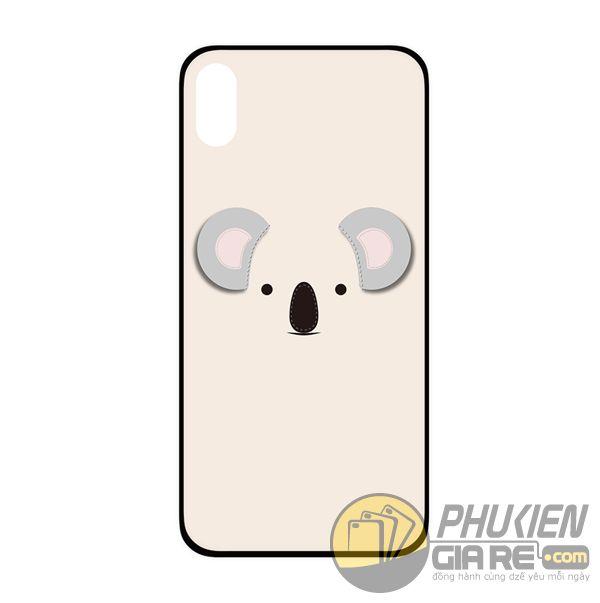 ốp lưng iphone x đẹp cho nữ - ốp lưng iphone x dễ thương - ốp lưng iphone x ipearl cute animal 3d koala (13017)
