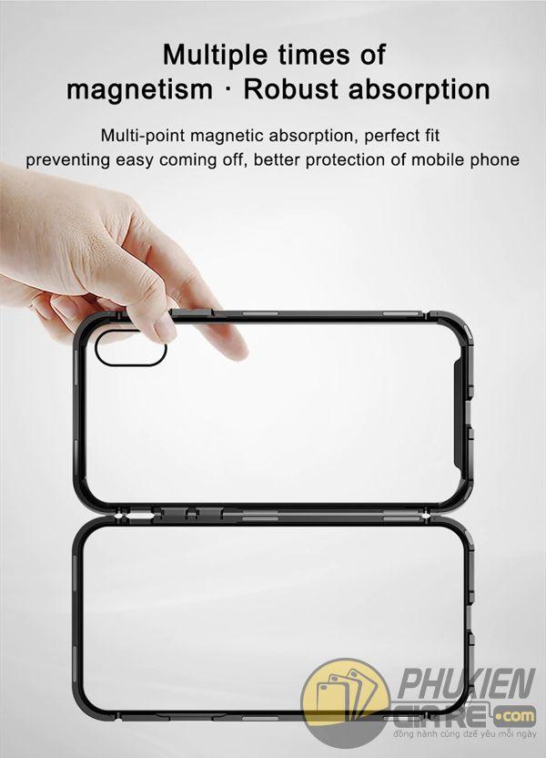 ốp lưng iphone xs max nam châm ốp lưng iphone xs max bằng kính - ốp lưng iphone xs max kim loại - ốp lưng iphone xs max baseus metallic magnetic (13783)