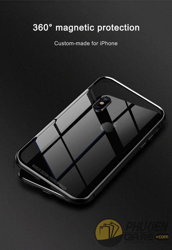 ốp lưng iphone xs max nam châm ốp lưng iphone xs max bằng kính - ốp lưng iphone xs max kim loại - ốp lưng iphone xs max baseus metallic magnetic (13785)