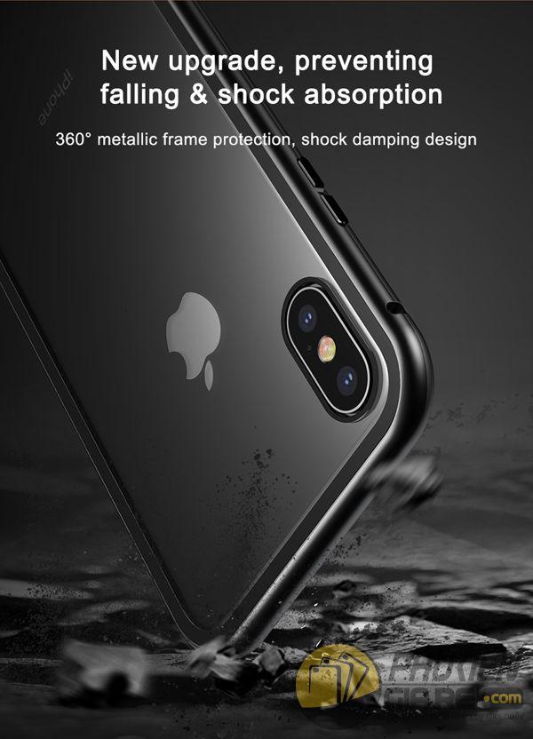 ốp lưng iphone xs max nam châm ốp lưng iphone xs max bằng kính - ốp lưng iphone xs max kim loại - ốp lưng iphone xs max baseus metallic magnetic (13786)