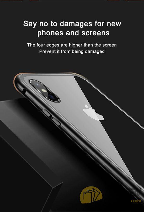 ốp lưng iphone xs max nam châm ốp lưng iphone xs max bằng kính - ốp lưng iphone xs max kim loại - ốp lưng iphone xs max baseus metallic magnetic (13787)
