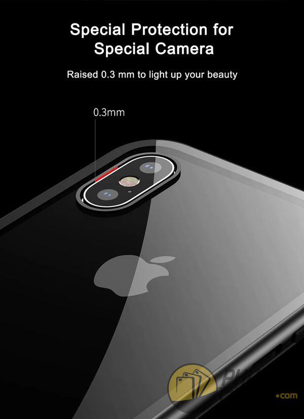 ốp lưng iphone xs max nam châm ốp lưng iphone xs max bằng kính - ốp lưng iphone xs max kim loại - ốp lưng iphone xs max baseus metallic magnetic (13790)